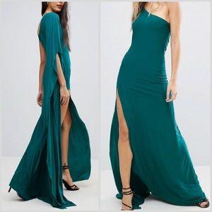 One Shoulder High Slit Maxi Dress - NWT